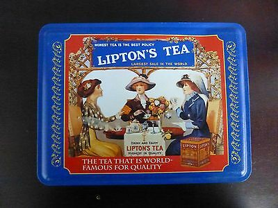 Vintage Lipton Nostalgic Tin Collection*Series #401*8''X3''X6.5''