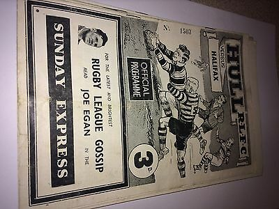Hull FC v Halifax March 1955 Challenge Cup 2nd Round