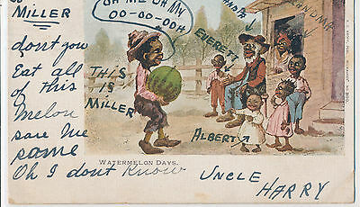 Watermelon Days - African American boy delivering watermelon to family