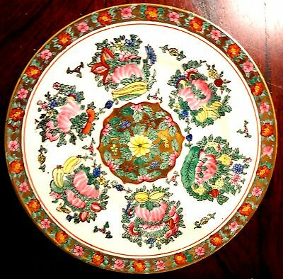 Oriental Porcelain Plate Made in China Very Colorful
