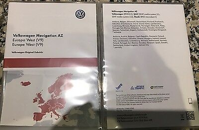 "VW RNS 315 Navigation ""V9"" 2017. AZ Europe de l'ouest a carte-SD.  3AA051866AM"
