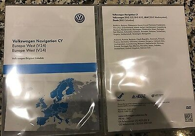 2017 DVD Navigation VOLKSWAGEN RNS 510 RNS 810 Europe V14    1T0051859AM (NEUF)