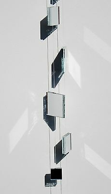 """New 9' 10"""" Strand Package Of Square Decorative Glass Mirrored Garland From Roman"""