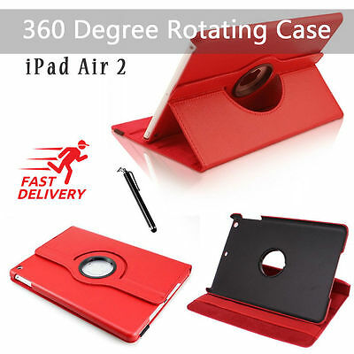 Leather 360 Degree Rotating Smart Stand Case Cover For APPLE iPad Air 2 6  [R124