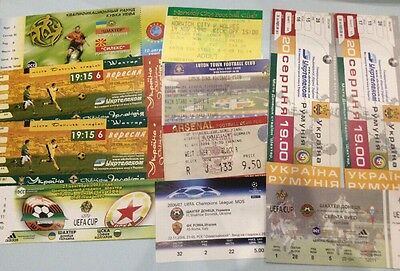 Football Ticket Collection - Used Ticket Stubs - Job Lot - English And European