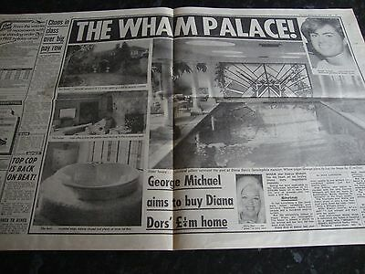 Wham - George Michael Newspaper Article from The Sun 1985 - Wham Palace