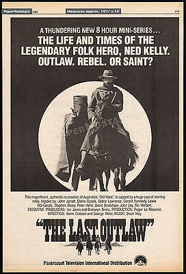 THE LAST OUTLAW__Original 1981 Trade Print AD / poster_TV promo__NED KELLY_1980