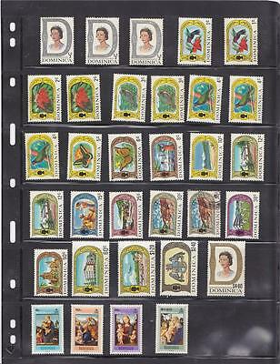 Dominica 1969-72 mainly mint (2 scans) (cat. over £40)