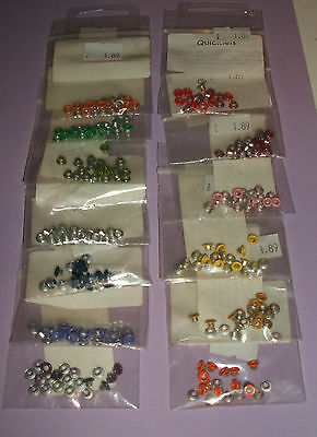 Pack Of 20 Eyelets / Quicklets For Cardmaking And Scrapbooking Size 3/8 Or 3Mm