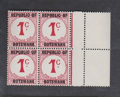1967 Postage Dues of Bechuanaland overprinted Botswana