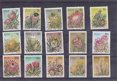 South Africa 1977 Succulents (mint and used selection) on 2 scans