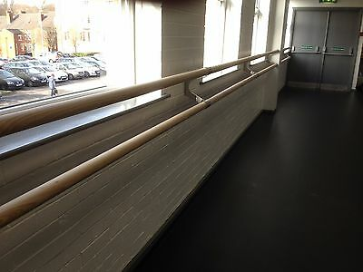 4.0 Metre Double Wall Mounted Ballet Barre