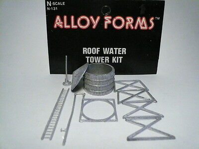 """Alloy Forms """"N"""" Wooden Roof Water Tower (3 PHOTOS) Pewter #131 - FAST SHIP!"""