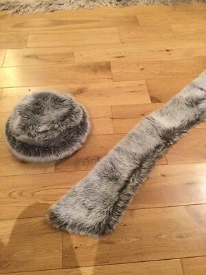 Brand New Fur Hat and Scarf/Shrug