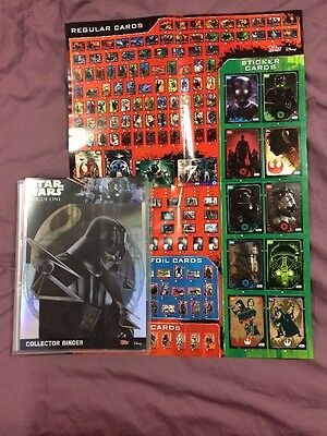 Topps UK Rogue One - Complete Set, All Stickers, Limited Editions And Poster.