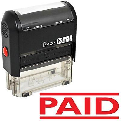 PAID Self Inking Rubber Stamp - Red Ink (ExcelMark A1539) New