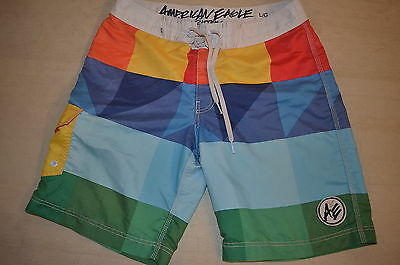 American Eagle Mens Board Shorts, Bathing Suit Size Large Swim Wear Surfing Used