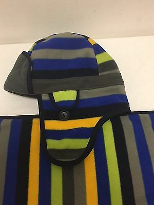 Boys Multi Stripe Hat And Scarf Set From Gap - VGC