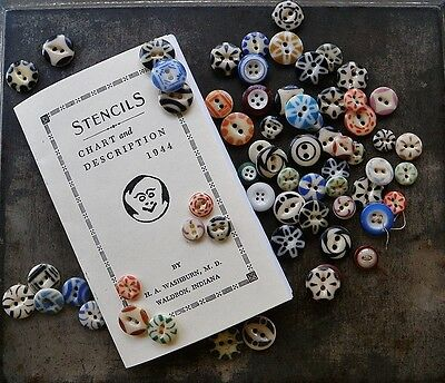 Antique Stencil Buttons Resource Book For Collectors