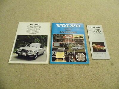 1978 Volvo 240 / 260  sales & accessories  brochure dealer  with 76 added lot
