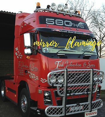 VOLVO FH & FM Truck CHROME Not Stainless Steel Mirror Covers! Left & Right Side!