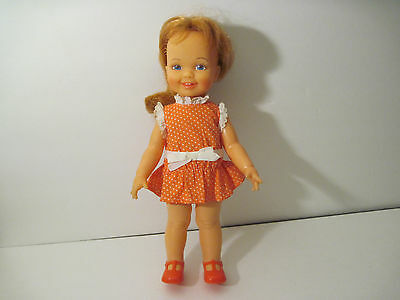 """RARE 1971 Red Growing Hair Crissy Krissy Little Sister CINNAMON Ideal Doll 12"""""""