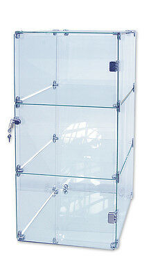 Collectors Glass Display Showcase Great For Small Areas Hinged Lockable Door