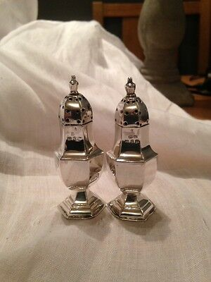 Stunning Pair Of Victorian Silver Pepperettes Birmingham 1897 Weight 30 Gms