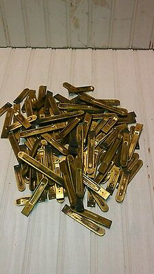 120 Brass Reeds from Weaver Pump Organ Antique Used Parts Crafts Repurpose