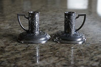 Pair of D.S. Co. 2518 Candle Holders Holder Holloware Hollow ware Awesome!!!