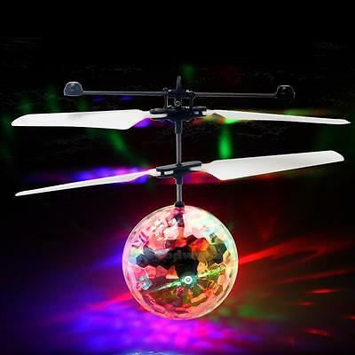 Children kid Flying RC Ball Led Flashing Light Aircraft Helicopter Induction Toy