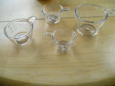 Glass Measuring Cups Set of Four