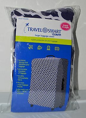 """Conair Travel Smart Navy Large Luggage Cover Protects & Secures Fits 28""""-32"""""""