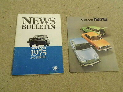 1975 volvo 240 series internal news bulletin with sales brochure dealer info