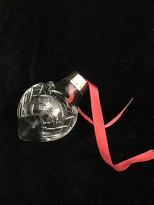 Royal Doulton Clear Crystal Teardrop Holiday/Christmas Tree Ornament