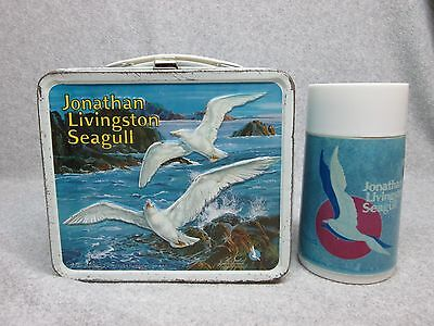 1973 JONATHAN LIVINGSTON SEAGULL Movie & Book LUNCHBOX & THERMOS C#7.5+
