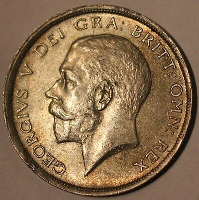 1916 George V .925 Silver Half-Crown Coin A/UNC? - Great Britain Lot#2