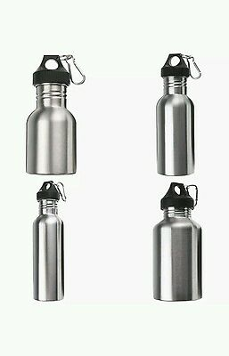 750ml Stainless Steel Wide Mouth Drinking Water Bottle Sports Cycle
