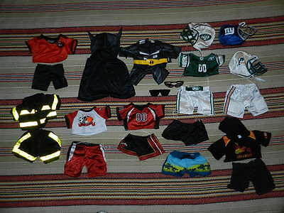 Huge Authentic BAB Build A Bear Huge Lot of Boys Clothes Batman Football More