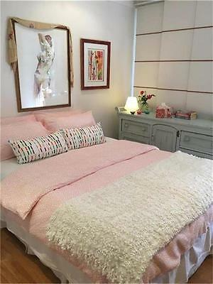 IKEA Tradaster Queen Size Doona Quilt Cover Set with 4 Pillow cases Summer Fresh