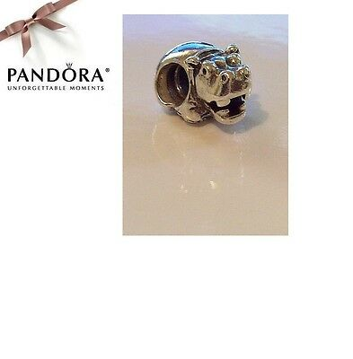 RARE & RETIRED - Authentic Pandora Sterling Silver HIPPOPOTAMUS Charm - 790334