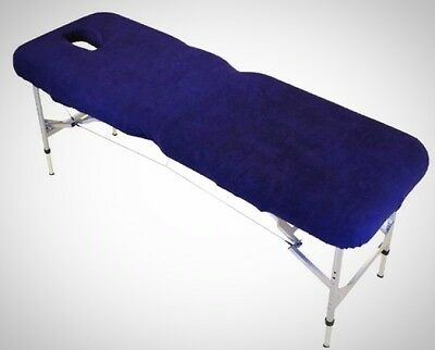 Blue Massage Table Couch Cover w/ Face Hole Elasticated Corner Excellent Quality