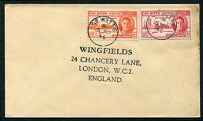 St Kitts Nevis 1946 Victory cover