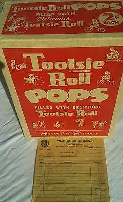 1950s Tootsies Roll Pop 2¢ RETAILERS CANDY ADVERTISING DISPLAY BOX