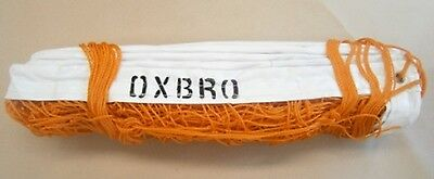 9.15long x 0.9deep/100mm mesh, Volley Ball Net, Standard Orange and PVC Bindings