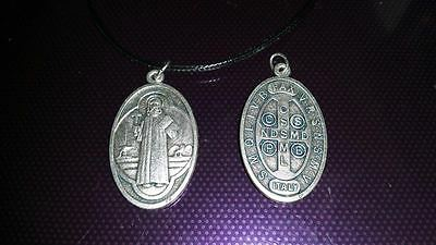 Large St Benedict necklace charm Catholic Saint Vatican City medal medallion