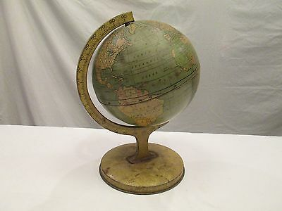 1x Vintage Child's Old Toy Aluminum Metal World Globe