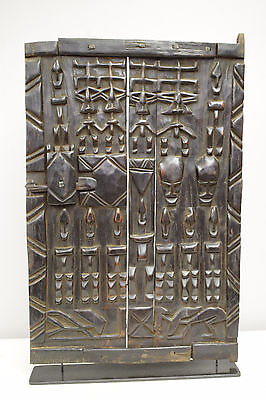 African Dogon Carved Wood Granary Storage Door Mali