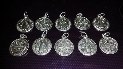 10x St Benedict charms Catholic Saint charm Vatican City medal medallion #1
