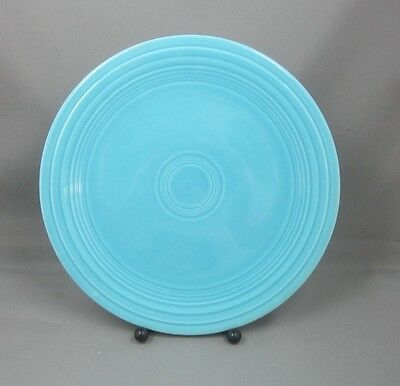 """Vintage FIestaware 9"""" Luncheon Plate in Turquoise Blue Fiesta Ware HLCo #BL2"""